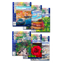 Série Cours de peinture en vidéo, volumes 13 à 18