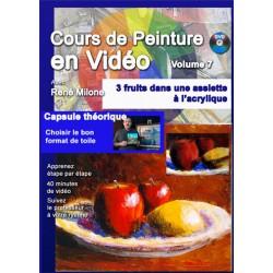 Volume 7 Trois fruits dans une assiette à l'acrylique à télécharger
