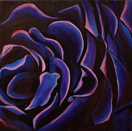 peinture abstraite et epoxy