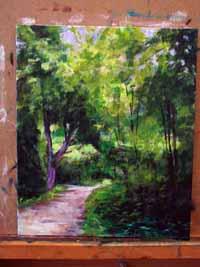 peindre écorce arbre