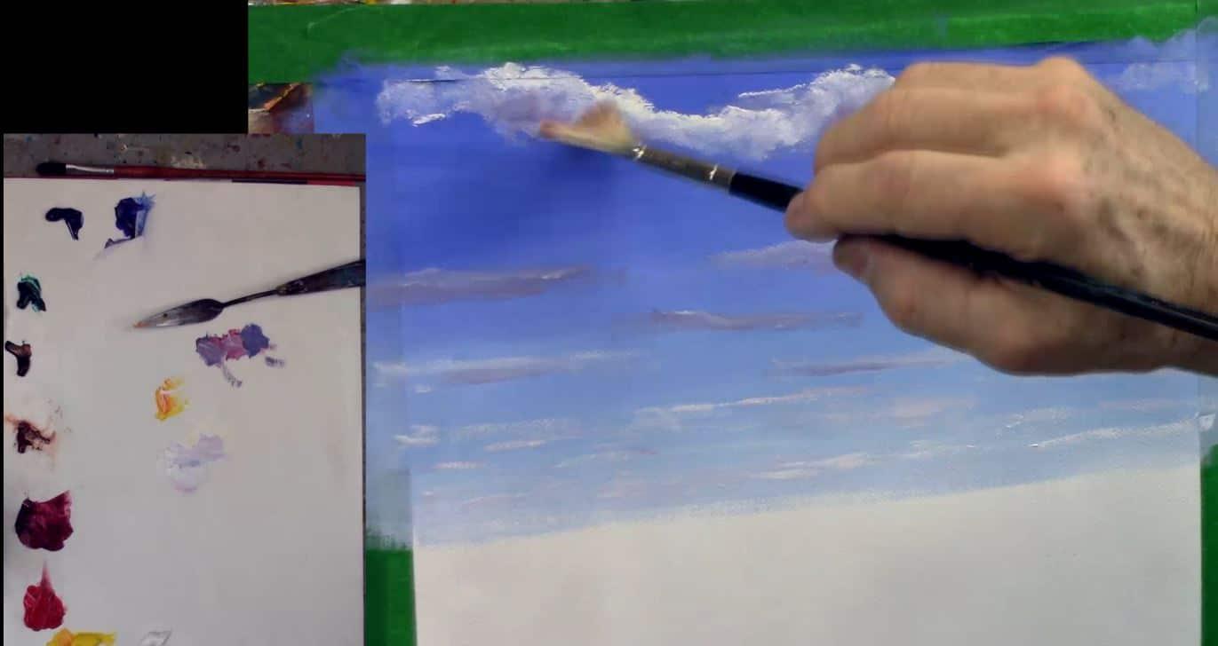 peindre les nuages