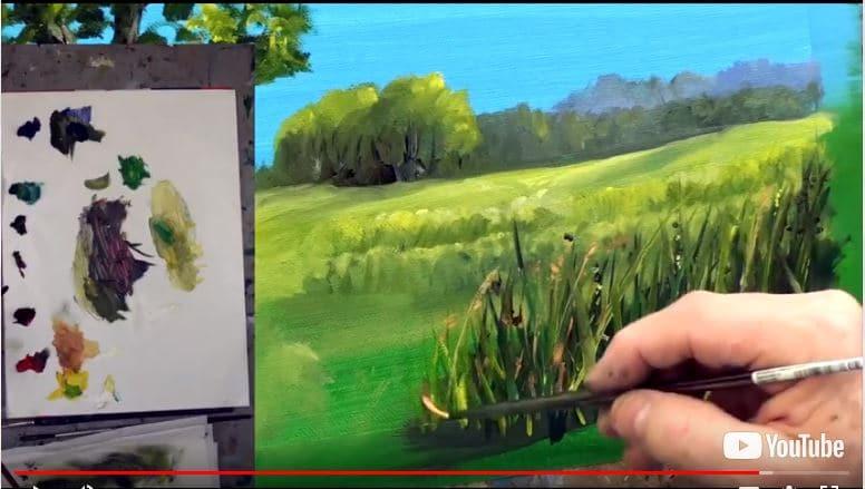 peindre des herbes réalistes